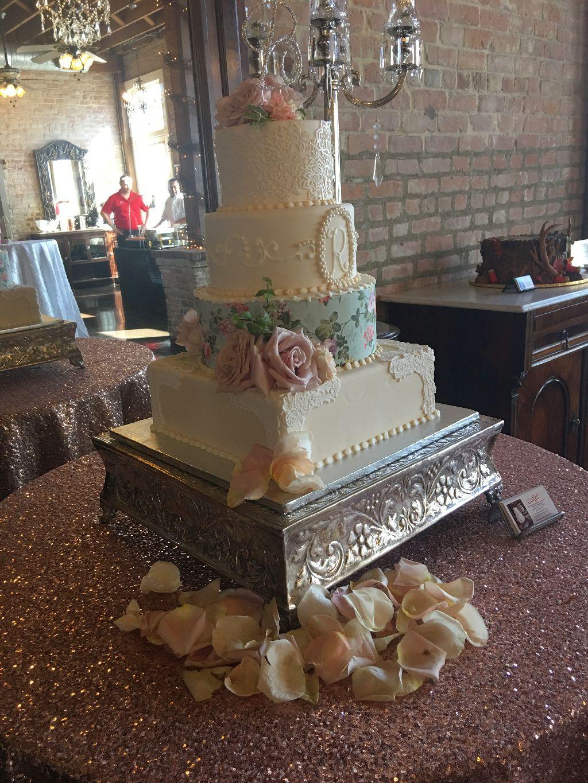 4 tier custom wedding cake